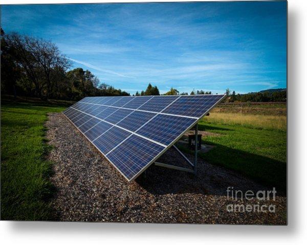 Solar Panels Mendocino County Metal Print