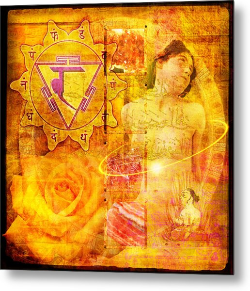 Solar Plexus Chakra Metal Print by Mark Preston