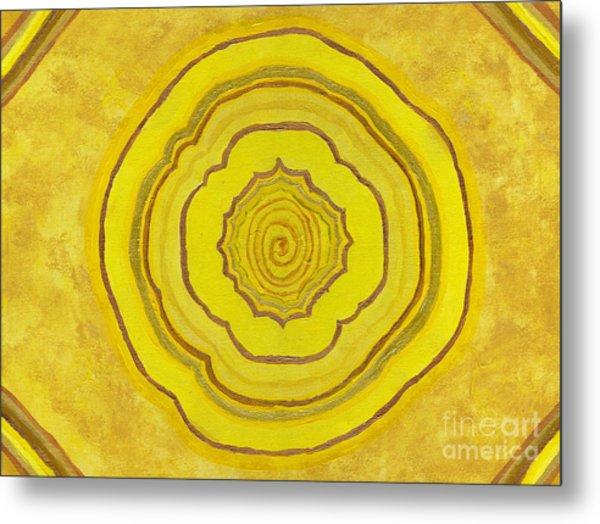 Solar Plexus Flower Metal Print