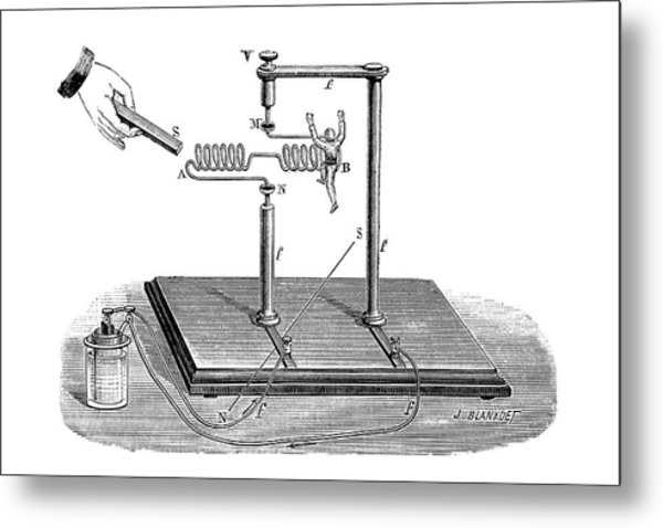 Solenoid Demonstration Metal Print