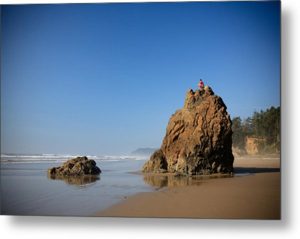 Solitary Ocean View Metal Print