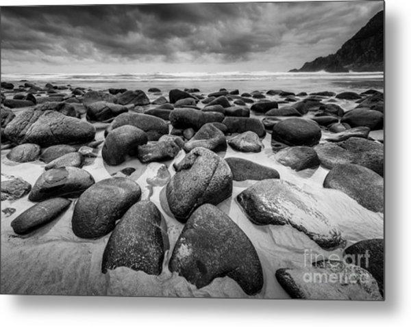 Metal Print featuring the photograph Solitude Campelo Beach Galicia Spain by Pablo Avanzini
