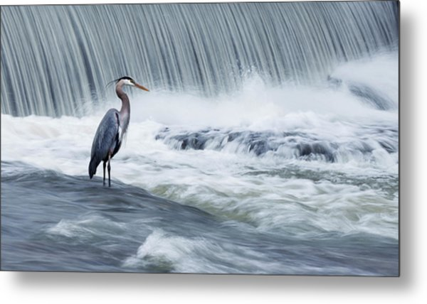 Solitude In Stormy Waters Metal Print