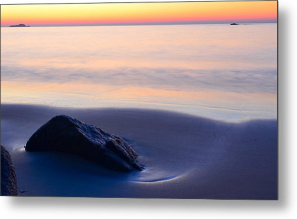 Metal Print featuring the photograph Solitude Singing Beach by Michael Hubley