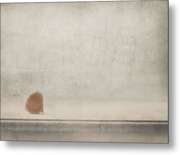 Solitude Stands By The Window Metal Print by Delphine Devos