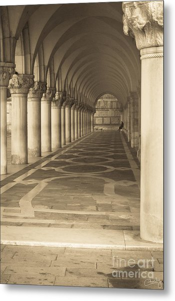 Solitude Under Palace Arches Metal Print