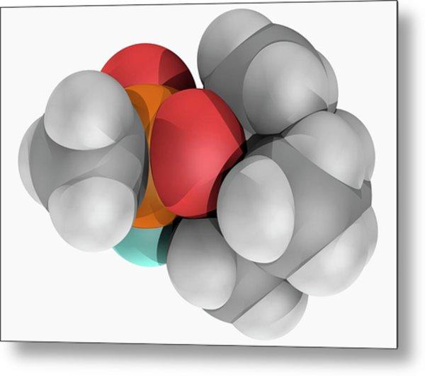 Soman Molecule Metal Print by Laguna Design/science Photo Library