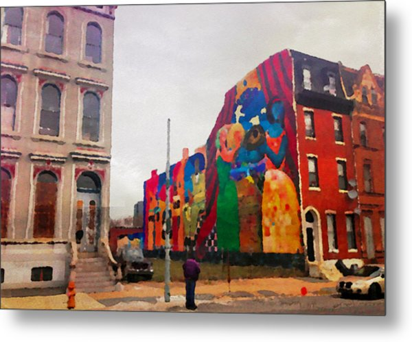 Some Color In Philly Metal Print