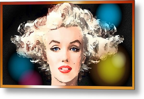 Metal Print featuring the painting Marilyn - Some Like It Hot by Hartmut Jager