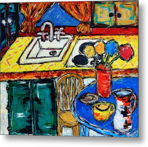 Somebody Else''s Kitchen Metal Print