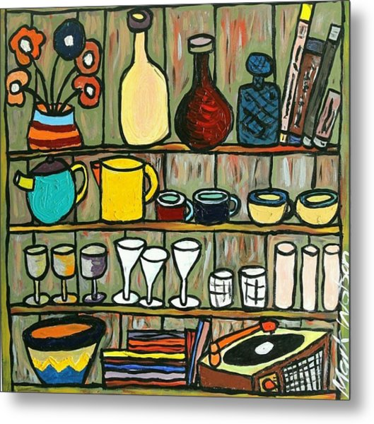 Somebody's Shelf Metal Print