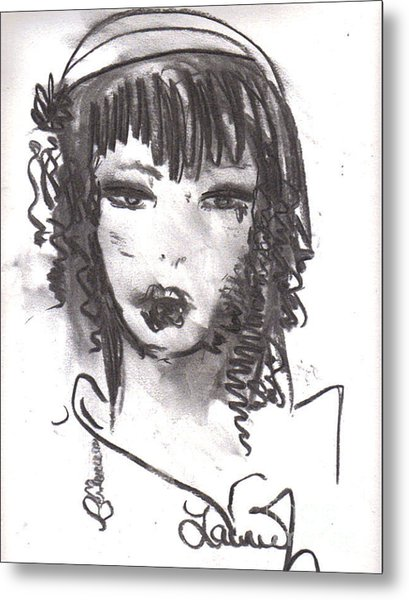 Metal Print featuring the drawing Someday In Paris by Laurie Lundquist