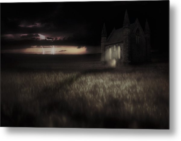 Something Wicked - Lightning - Chapel - Gothic Metal Print