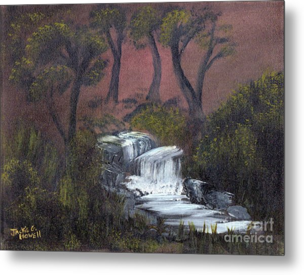 Somewhere Along A Waterfall Metal Print