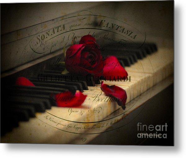Sonata In Roses Metal Print