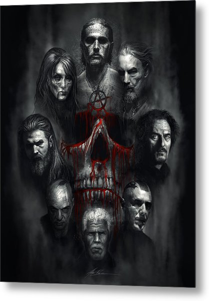 Sons Of Anarchy Tribute Metal Print