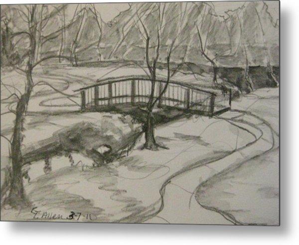 Sope Creek Bridge Metal Print