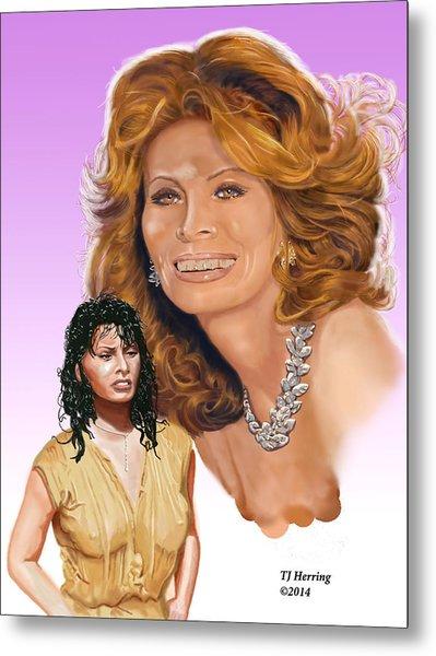 Metal Print featuring the digital art Sophia Loren by Thomas J Herring