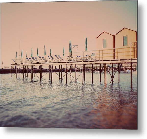 Sorrento Pier Metal Print