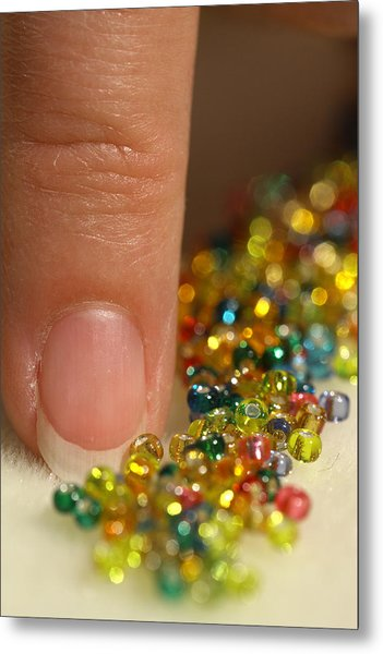 Metal Print featuring the photograph Sorting Beads by Daniel Reed