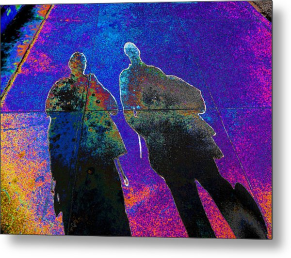 souls of 2 Veterans walking on Broadway - Glendale that is v3 Metal Print