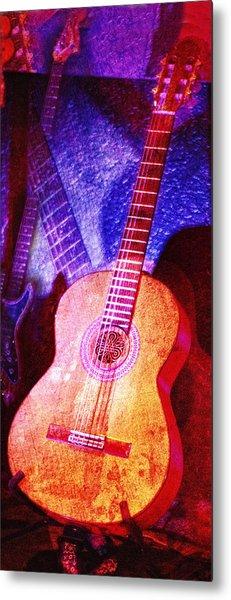 Metal Print featuring the photograph Sound Bites Niche Art Guitars by Bob Coates