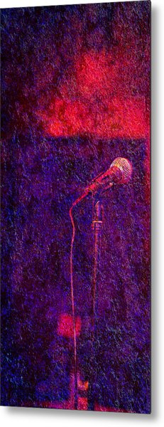 Metal Print featuring the photograph Sound Bites Niche Art Microphone by Bob Coates