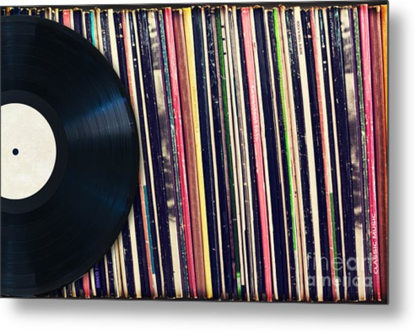 Sound Of Vinyl Metal Print
