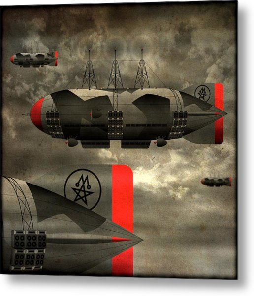 Sound Zeppelins Metal Print by Milton Thompson