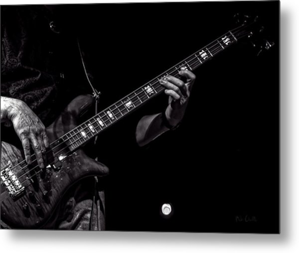 Sounds In The Night Bass Man Metal Print