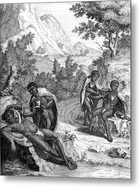 South Africa, Khoikhoi Bloodletting Metal Print