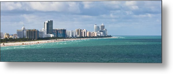 Metal Print featuring the photograph South Beach On A Summer Day by Ed Gleichman