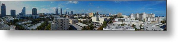 South Beach Sofi District Metal Print