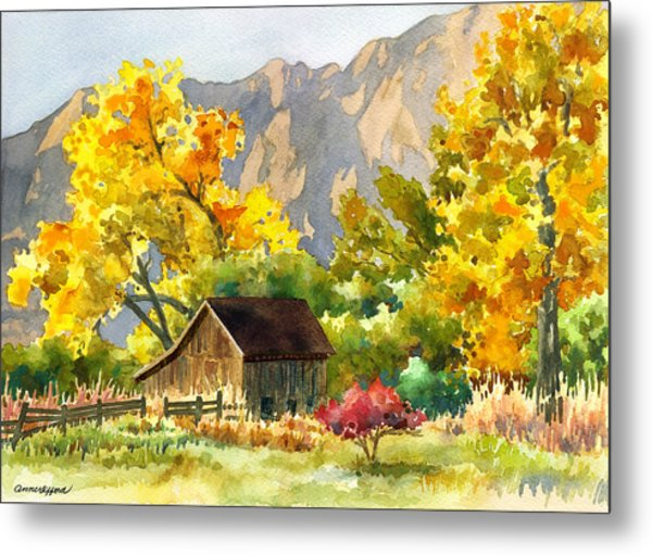 South Boulder Barn Metal Print