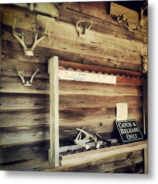 South Carolina Hunting Cabin Metal Print