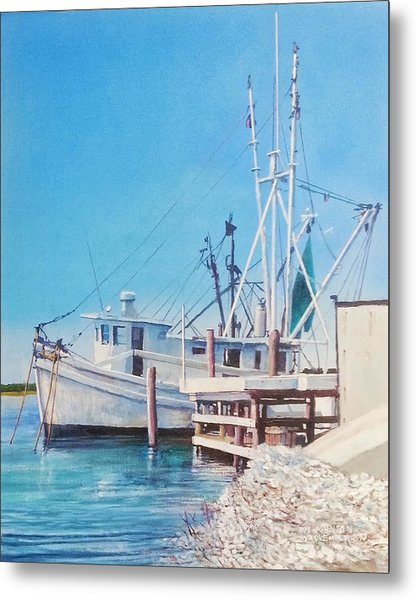 South Carolina Oysters Metal Print