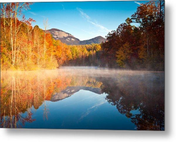 South Carolina Table Rock State Park Autumn Sunrise - Balance Metal Print