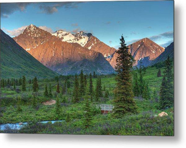 South Fork Near Eagle River At Sunset Metal Print