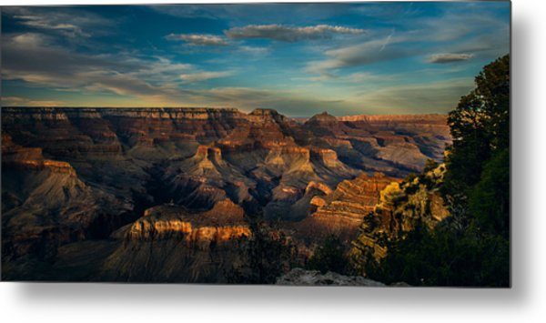 South Rim Nightfall Metal Print