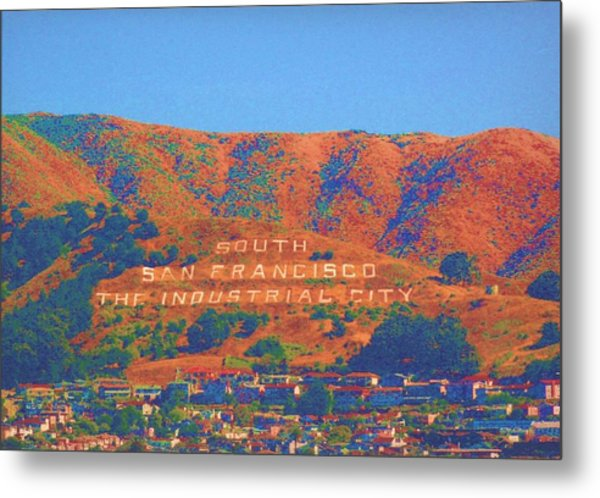 Metal Print featuring the photograph South San Francisco by Cynthia Marcopulos