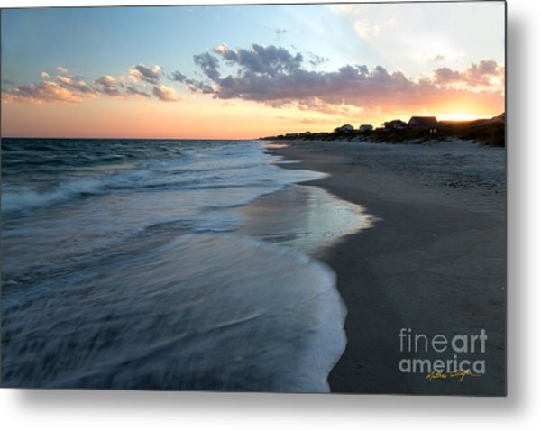 South Topsail Beach Sunset 2014 Metal Print