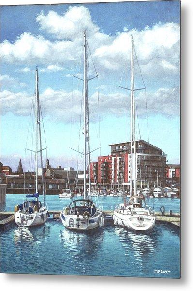 Southampton Ocean Village Marina Metal Print