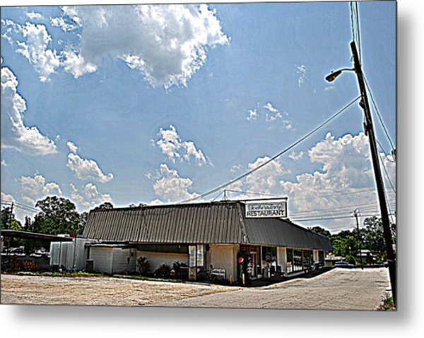 Southern Lady Metal Print by Beverly Hammond