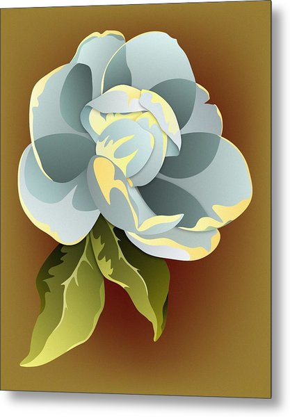 Southern Magnolia Blossom Metal Print by MM Anderson