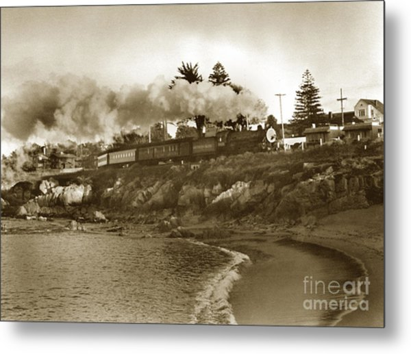 Southern Pacific Del Monte Passenger Train Pacific Grove Circa 1954 Metal Print
