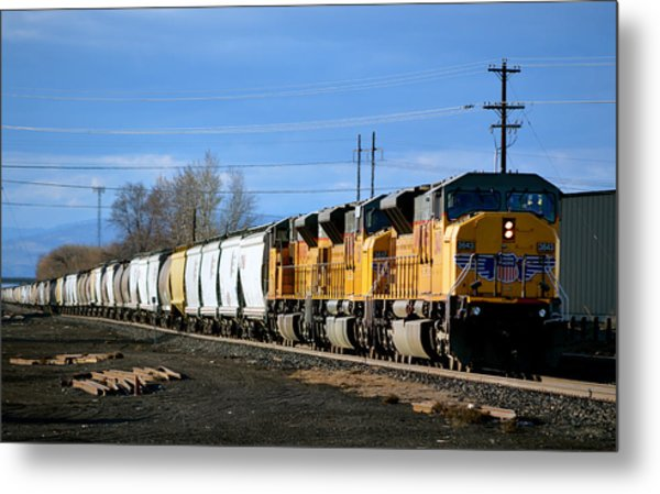 Southern Pacific Loading Up Metal Print