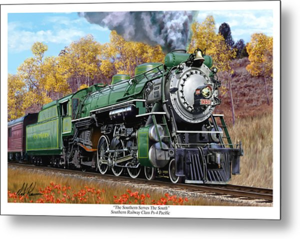 Southern Railway Class Ps-4 Pacific Metal Print by Mark Karvon
