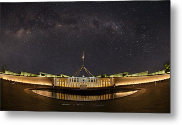 Southern Sky Parliament House  Metal Print by Andrew Prince