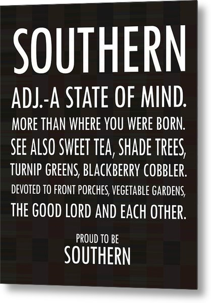 Southern State Of Mind Black And White Metal Print