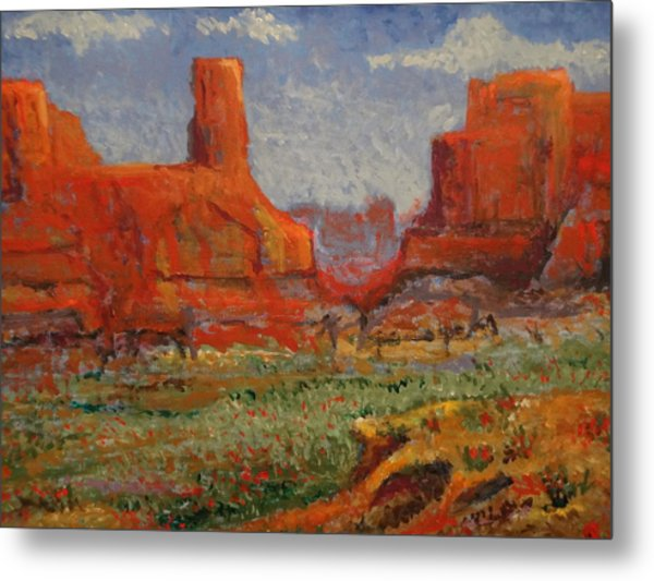 Southern Utah In The Spring Metal Print by Paul Benson